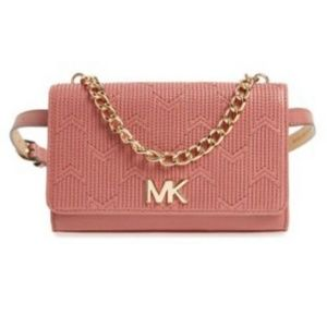 Michael Kors Pink Quilted Belt Bag Purse